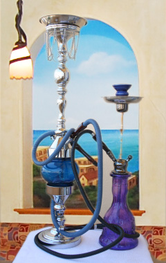 Hookahs at Waterfront Pizza and Mediterranean Restaurant